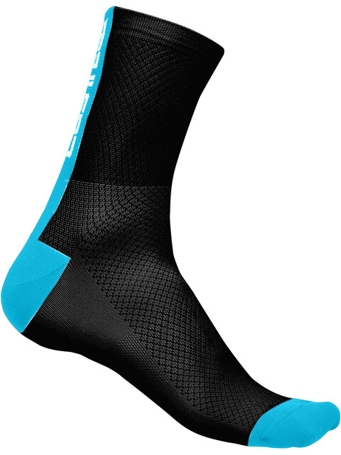 Castelli Distanza 9 Socks Unisex black/sky blue